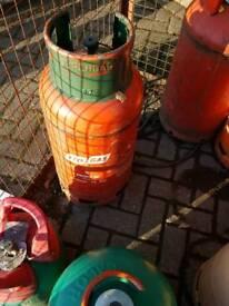 Propane gas bottle full 19kg roofing etc