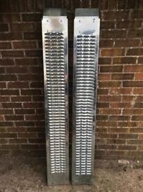 Pair of Metal Car Loading Ramps