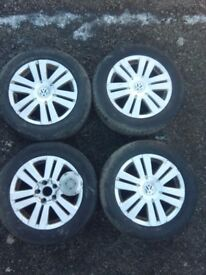 VW Passat EOS Genuine 16'' alloy wheels with tyres 215/55/16