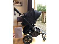 Bugaboo Cameleon 3 Genuine all black frame. SFPF home. Unused carrycot.