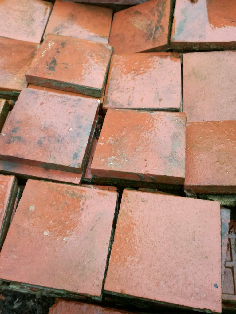 Reclaimed Victorian quarry tiles.