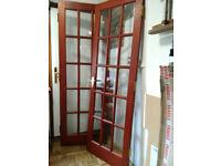 Interior Glazed Panel Doors with handles & Hinges