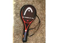 Head tennis racquet and cover