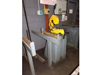 THOMAS 275 SUPER PEDESTAL MOUNTED CUT OFF SAW WITH STEEL BLADE