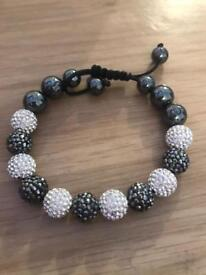 Genuine Tresor Paris Black and Silver Bracelet (Extendable)