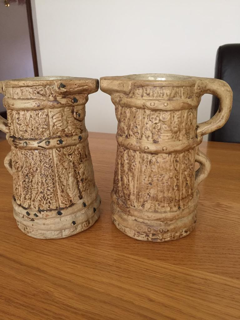 Pair of hillstonia vintage pottery vases jugs in ipswich pair of hillstonia vintage pottery vases jugs reviewsmspy