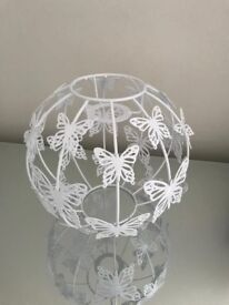 Gorgeous white butterfly lampshade