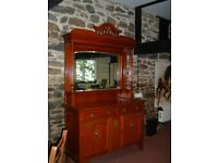 Arts and crafts mirrored solid Oak dresser/sideboard.