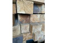 Sawn untreated timber posts joists 5x4 wood