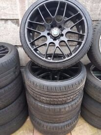 "BMW 19"" CS (CSL) Alloy Wheels Staggered Can Sell Individual Wheels Can Post Part Ex Welcome"