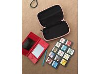 Nintendo DSI with case and games