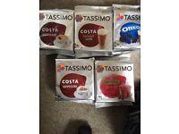 7 packs of various unopened Tassimo pods
