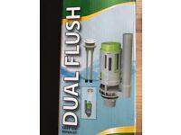 Dual toilet flush boxed