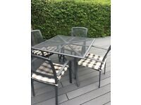 4 Seater Metal Armchair Outdoor Garden Patio set