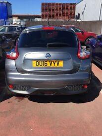 Nissan Juke Grey Diesel 16 plate