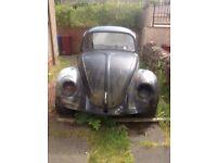 vw beetle for restoration