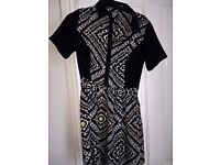 Very Love Label Geometric/Black and White Pattern Dress £10 ono
