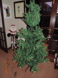 1.8M OUTDOOR /INDDOR PRELIT CHRISTMAS TREE