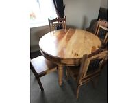4 Seater Round Table and Chairs with matching Coffee Table
