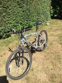 Boys silver shogun bicycle