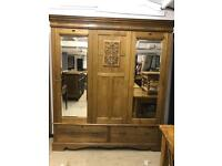 Extra large solid Oak double wardrobe