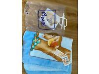 Brand new fleece blanket with tags & bag