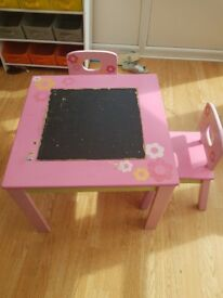 Children table and 2 chairs