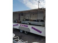 Catering van with pitch