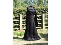 UK 8 Sousourada Beautiful Black Formal Occasion Prom Dress Ball Gown & Shawl