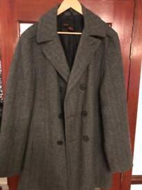 Gents Zara double breasted overcoat XL