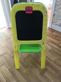 Black board and easel