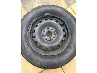 Fiat panda tyre and rim 155/80/13 and jack and brace kit
