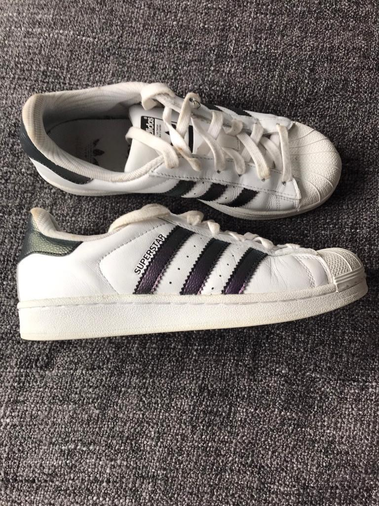 c4c53719379f Adidas Superstar Trainers Size 4