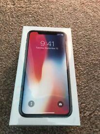 Apple iPhone X 64GB Space Grey Unlocked brand new