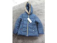 New Hooded Girls Coat 6-7 years