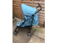 Mothercare Nanu Child Kids Pushchair Buggy Stroller Blue