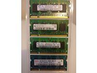 Samsung, Hynix, PC2-4200, PC2-5300, PC2-6400 512MB 1GB mixed SODIMM