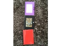 3 Plastic covered Jotter pads, 2 have clip fastening with photo inserts. All blank ready to be u