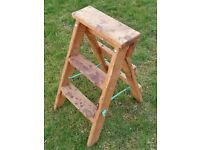 """Small 26"""" High Collapsible Wooden Step Ladder Home and Garden £20 ONO"""