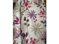 """Floral curtains 72"""" wide x 54"""" long"""