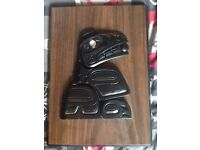 Canadian Handcrafted Inuit Pearlite Tlingit Whale Wall Plaque