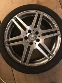 "18"" GENUINE MERCEDES E CLASS AMG ALLOY WHEELS AND TYRES FITS C E S CLA CLASS"