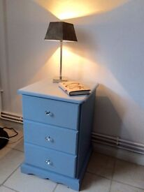 Solid Pine Wood Bedside table
