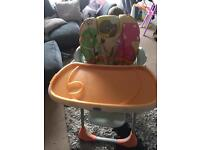 Chicco Polly Highchair - Dinofood