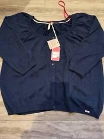 Brand New Ness Navy Cardigan, size xl