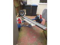 motorbike trailer single with ramp