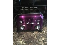 Purple Toaster & Microwave IMMACCULATE
