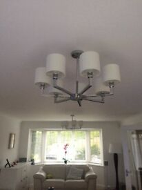 Two chandelier light fittings