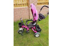 Girls 3 way trike swivvel seat immaculate condition only used once £50