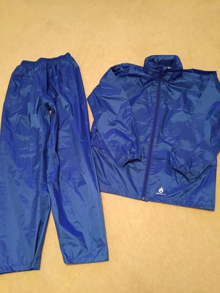 Children's waterproof jacket and over trousers, age 11-12yrs